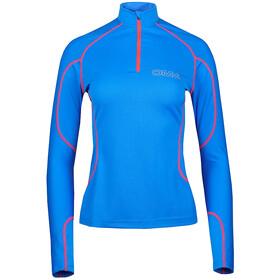 OMM Meridian Zip L/S Dame Blue